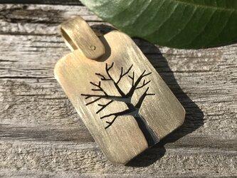 木のモチーフ ペンダントトップ 真鍮の画像