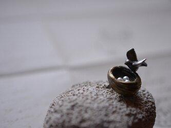 bird's nest pin broochの画像