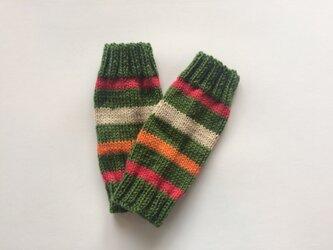 手編みのベビーレッグウォーマーの画像