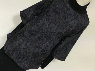 1125    着物リメイク    チュニック    七分袖    十日町紬の画像