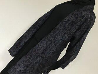 1126    着物リメイク    ジャケット    七分袖    十日町紬の画像