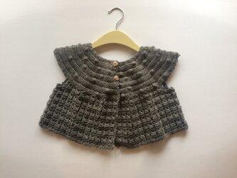 手編みのニットボレロ 1〜2歳の画像