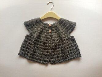 手編みのニットボレロ 2〜3歳の画像