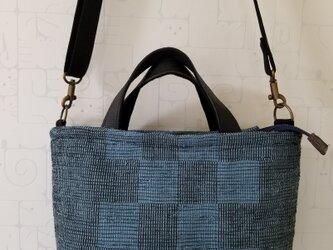 裂き織り2wayバッグの画像