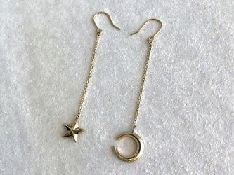 k10 三日月と星のピアスの画像
