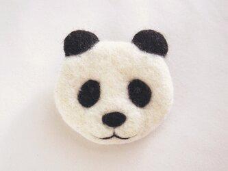 【受注制作】顔フェルトブローチ(パンダ)の画像