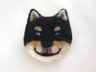 【受注制作】犬顔フェルトブローチ(日本犬)の画像