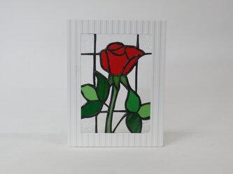 ステンドグラスパネル バラ(薔薇)の画像