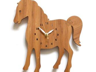 Decoylabの掛け時計 HORSE 馬の画像