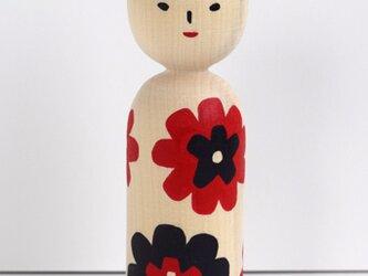 【現品のみ】こけし人形「花003」の画像
