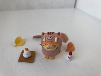 今年こそ干支になりたい猫さん2019(黄トラ)の画像