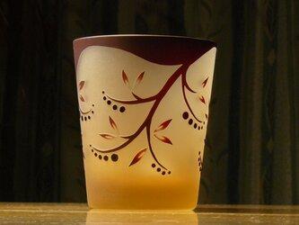 赤いベリーのフリーグラス(1個)の画像