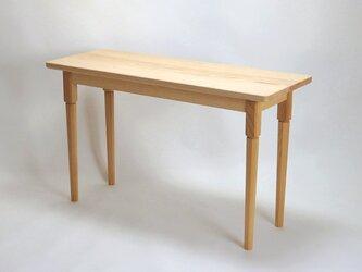 マツの長テーブル 脱着式の脚の画像