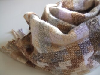 手織りカシミアストール・・アースの画像