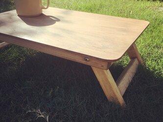折りたたみミニテーブルBrown アウトドア キャンプ フォールディングテーブルの画像