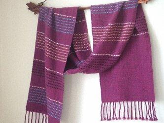 手織りカシミアマフラー・・フルボディの画像