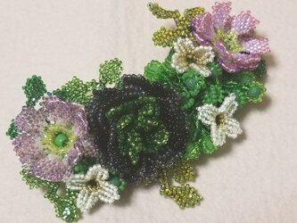 バレッタ Bouquet  (ブラックラナンキュラス)の画像