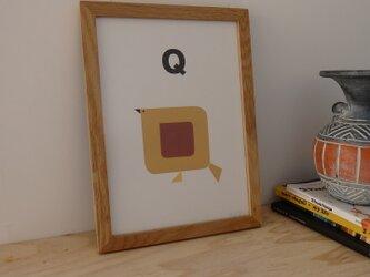 Q for Quail A4サイズポスターの画像
