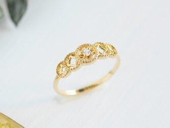 リュミエールリング(ダイヤモンド)/ K10YG【受注製作】の画像