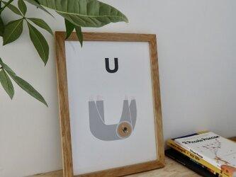 U for Unau A4サイズポスターの画像