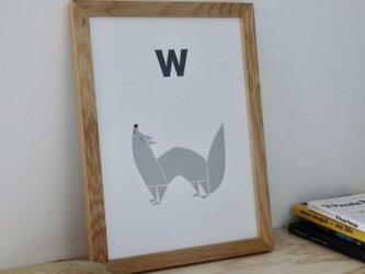 W for Wolf A4サイズポスター(A3サイズあり!)の画像