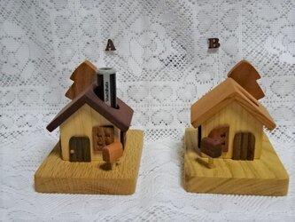 カードスタンド付き小さなお家の印鑑立て*再々出品A・Bの画像