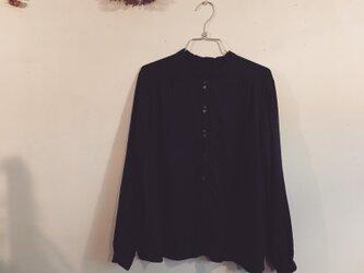 ネイビーブルー☆Wガーゼのふんわりシャツ(o-to-088)の画像