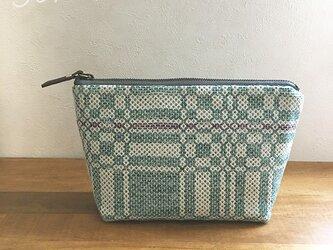 pouch[手織りポーチ]  エメラルドの画像