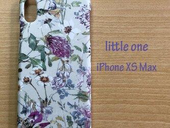 【リバティ生地】ワイルド・フラワーズグレー iPhone XS Maxの画像