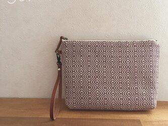 pouch[手織りポーチ] あずきベルト付きの画像