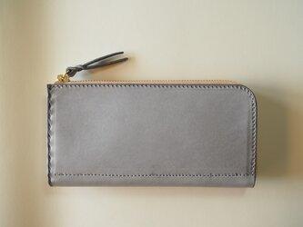 L字ファスナーの長財布 / グレーの画像
