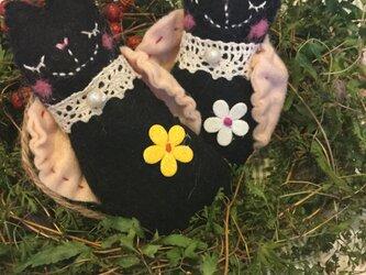 黒猫エンジェルラベンダーサシェの画像