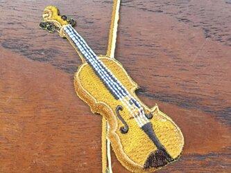 アップリケワッペン-バイオリン  W-1216の画像