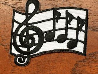 アップリケワッペン-楽譜の音符  W-1215の画像
