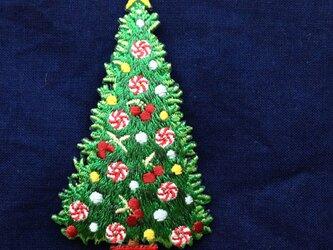 アップリケワッペン クリスマス ツリーL  W-0352の画像