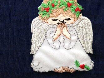 アップリケワッペン お祈り天使 W-0357の画像