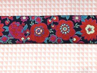 刺繍リボン1ヤード-グランドプーケフラワーネイビーの画像