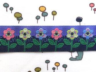 刺繍リボン1ヤード-へクシーフラワーの画像