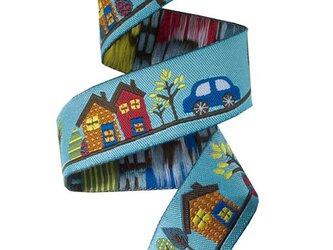 刺繍リボン1ヤード-車とお家の画像