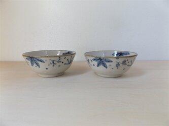 飯碗 青茶の葉(小)の画像