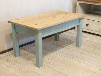 miniテーブル dressing table blueの画像