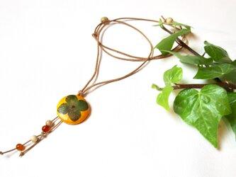 【和紙貼り絵ペンダント】-柿の画像