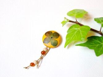 【和紙貼り絵ブローチ】-柿の画像