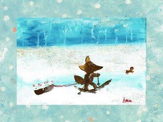 冬のハガキセットの画像