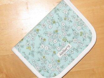 二つ折り財布★小花柄(ブルー)の画像