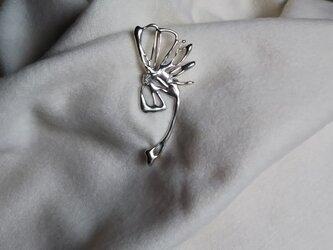 SV925    横向きの花のストールピンの画像