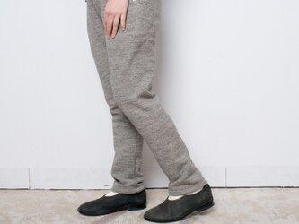 P0017  茶綿起毛パンツ サンドチャコール杢 サイズ2の画像