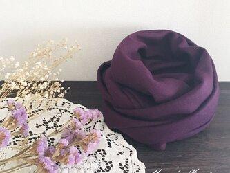 スムース ラベンダー 紫 ウール 100% 良品質 スヌードの画像