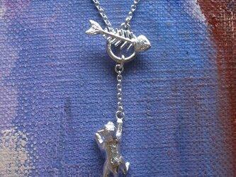 猫&骨のネックレスの画像