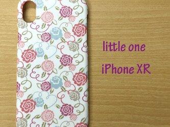 【リバティ生地】リボン・ブルーム ピンク iPhoneXRの画像